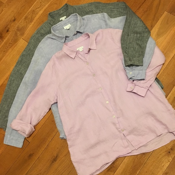 992ae45a J. Jill Tops   J Jill Essential Linen Shirts   Poshmark